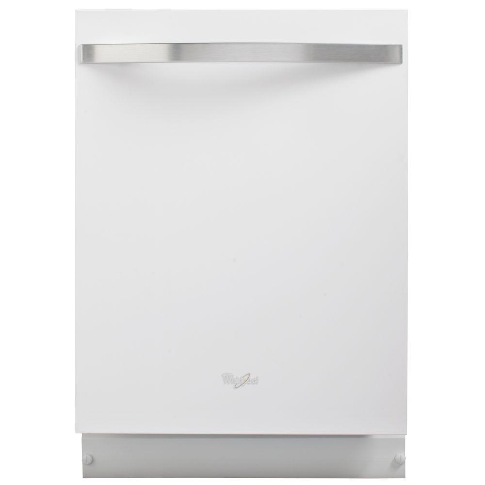 Whirlpool Gold Top Control Dishwasher in White Ice with Stainless Steel Tub