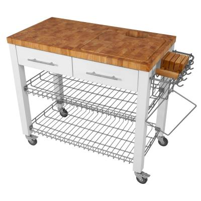 Chef Series White Kitchen Work Station with Chop and Drop