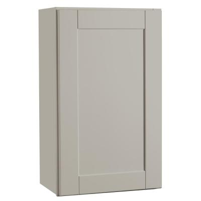 Shaker Assembled 18x30x12 in. Wall Kitchen Cabinet in Dove Gray