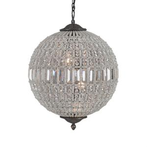 Click here to buy Yosemite Home Decor Collins Collection 3-Light Antique Black Chandelier with Crystal Shade by Yosemite Home Decor.