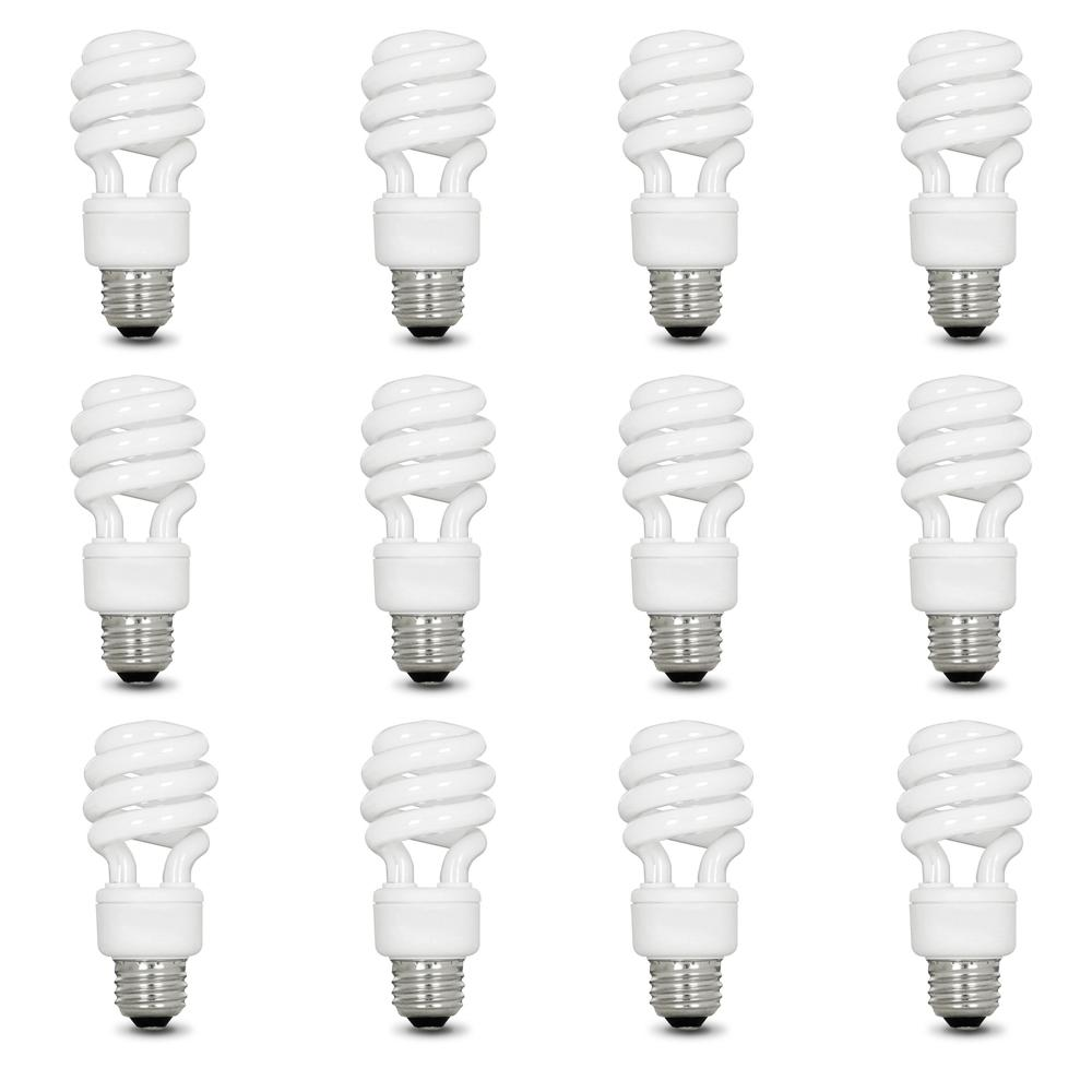 Feit Electric 60-Watt Equivalent Soft White A19 Spiral CFL Light Bulb (12-Pack)