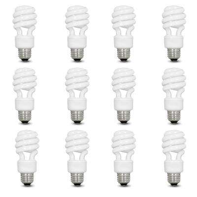 60-Watt Equivalent Soft White A19 Spiral CFL Light Bulb (12-Pack)