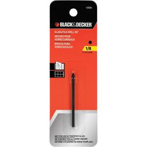 Black & Decker 1/8 inch x 2-1/4 inch Carbide Glass/Tile Drill Bit by BLACK+DECKER