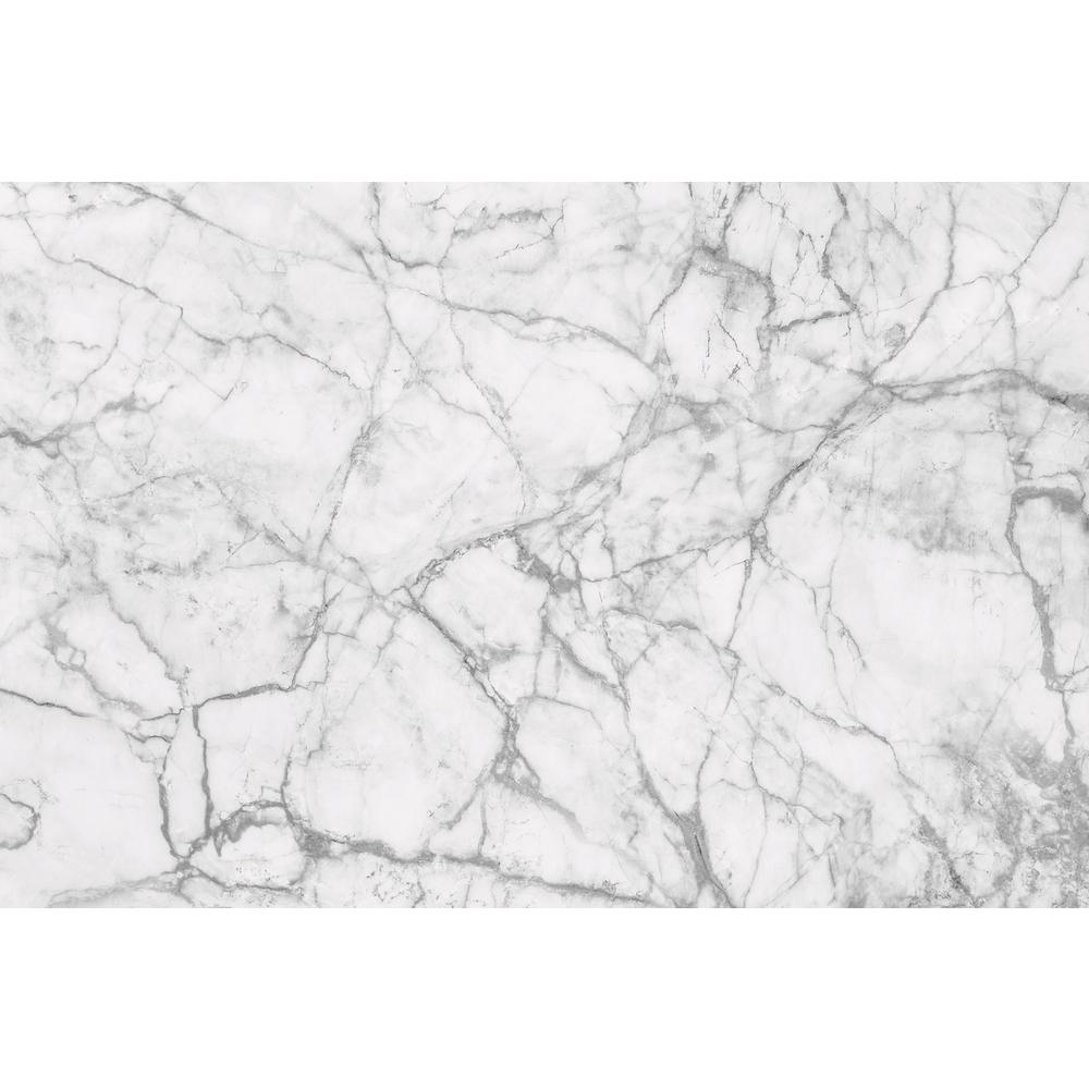 Glam White Marble Animals Wall Mural