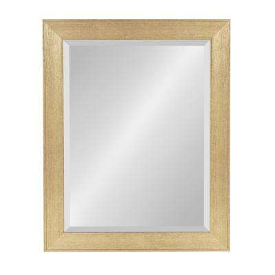 Coppell Rectangle Gold Wall Mirror