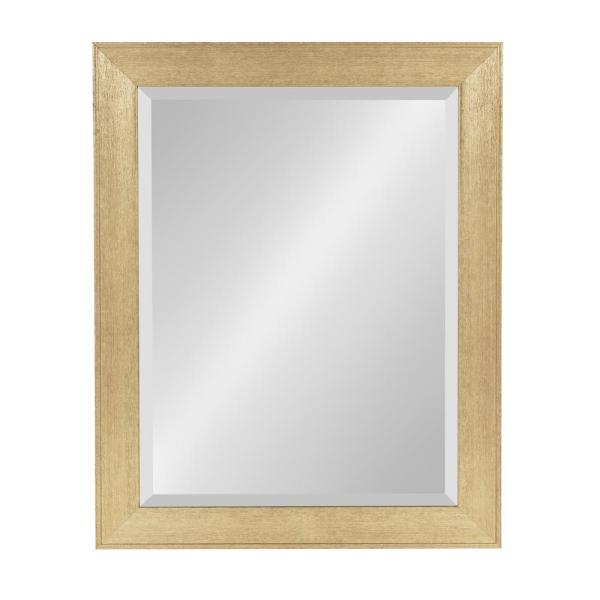 DesignOvation Coppell Rectangle Gold Wall Mirror 212624