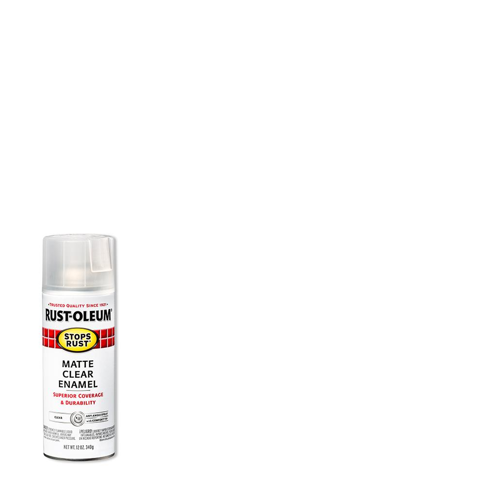 Rust-Oleum Stops Rust 12 oz. Protective Enamel Matte Clear Spray Paint (6-Pack)