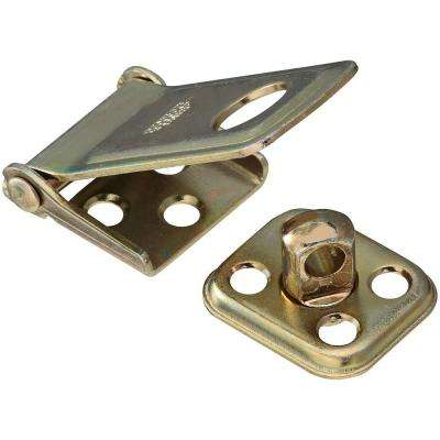 2-1/2 in. Satin Brass Tone Rotating Post Hasp