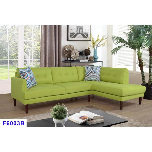 Star Home Living Apple Green Left Sectional Sofa Set (2-Piece ...