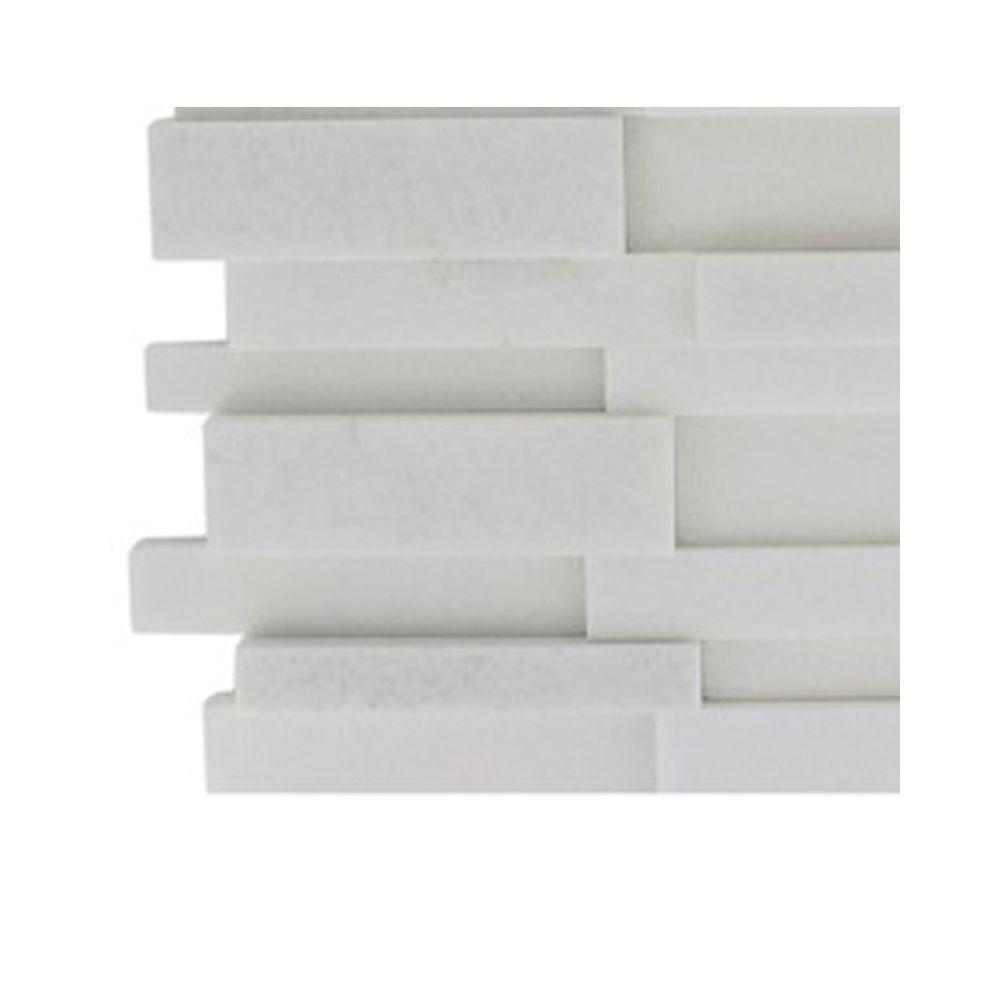 Splashback tile 3d brick white thassos marble mosaics tile 3 in x splashback tile 3d brick white thassos marble mosaics tile 3 in x 6 in x 8 mm tile sample l4b1 marble mosaics the home depot tyukafo
