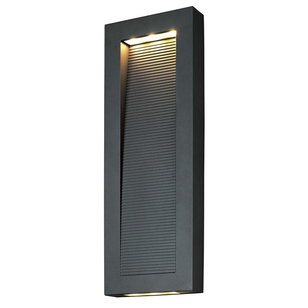 Maxim Lighting Avenue 6-Light Architectural Bronze Integrated LED Outdoor Wall Lantern Sconce
