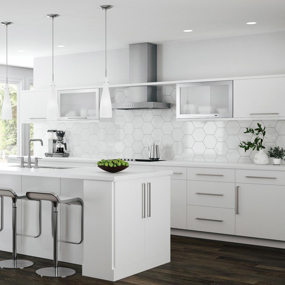 Hampton Bay Designer Series Edgeley Assembled 30x42x12 in. Wall Kitchen  Cabinet in White