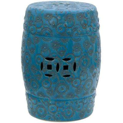 Oriental Furniture Spherical Design Porcelain Ottoman