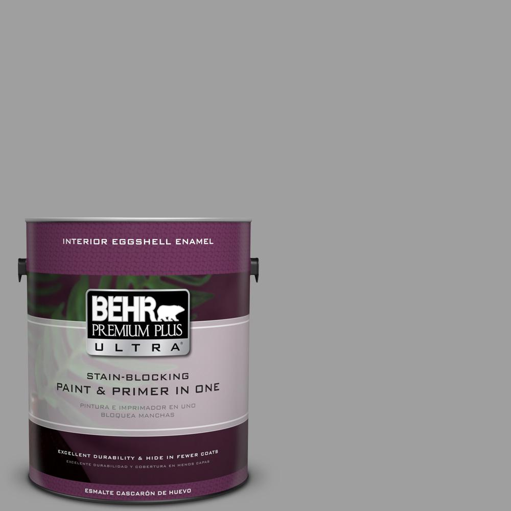 1 gal. #PPU26-06 Elemental Gray Eggshell Enamel Interior Paint