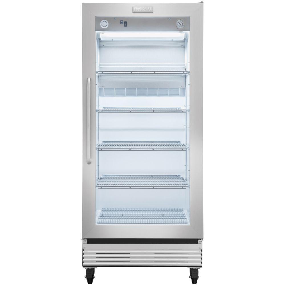 Frigidaire Commercial 19.7 cu. ft. Single Door Merchandiser Refrigerator in Stainless Steel