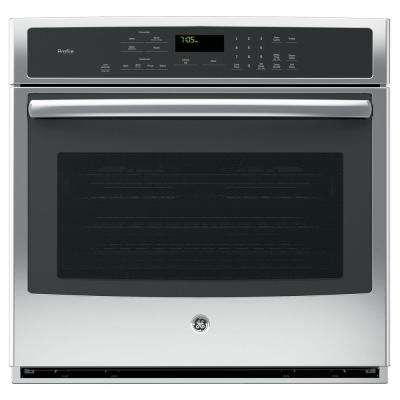 Profile 30 in. Single Electric Wall Oven Self-Cleaning with Steam Plus Convection in Stainless Steel