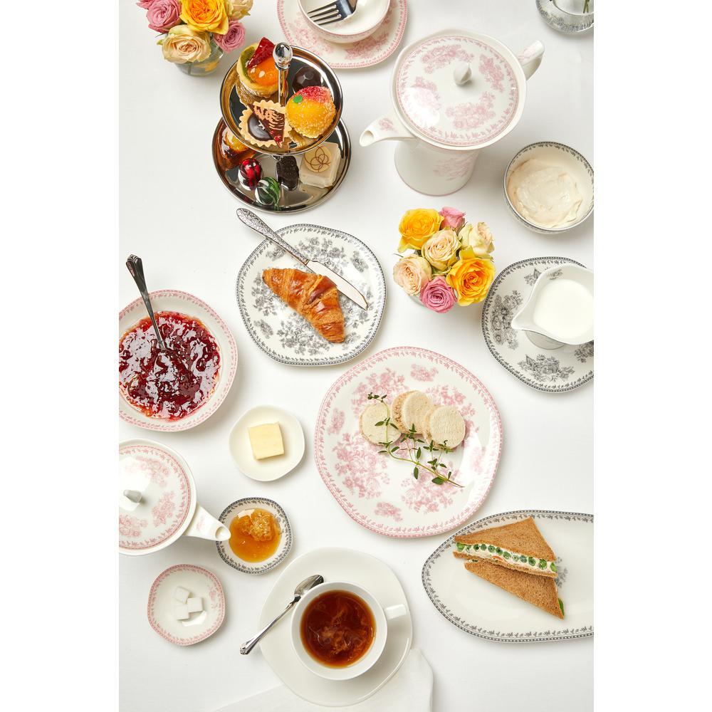 Oneida 2 Cup Grey Porcelain Grey Tea Pots With Lid 12 Oz Set Of 12 L6703068860 The Home Depot