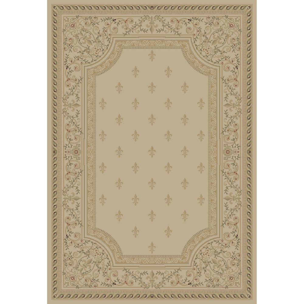 Concord Global Trading Imperial Fleur De Lys Ivory 6 ft. 7 in. x 9 ft. 6 in. Area Rug