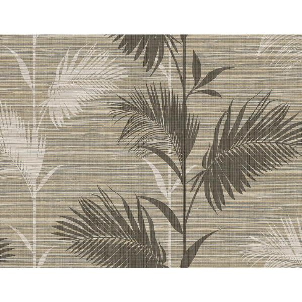Kenneth James Away On Holiday Brown Palm Wallpaper