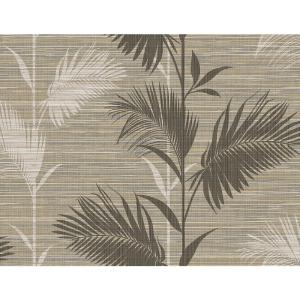 Away On Holiday Brown Palm Wallpaper Sample