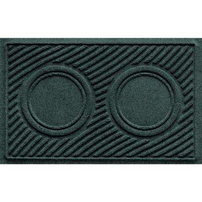 Evergreen 18 in. x 28 in. Dog Bowl Wave Pet Mat