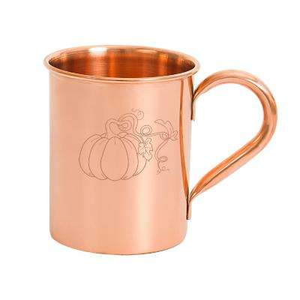 17 oz. Harvest Pumpkin Moscow Mule Copper Mug