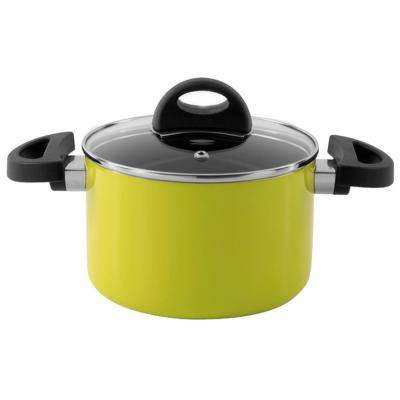 Eclipse 3.9 Qt. Aluminum Non-Stick Lime Green Casserole Dish with Lid