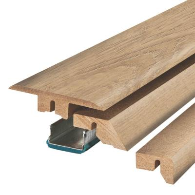 Natural Cascade Oak 3/4 in. Thick x 2-1/8 in. Wide x 78-3/4 in. Length Laminate 4-in-1 Molding