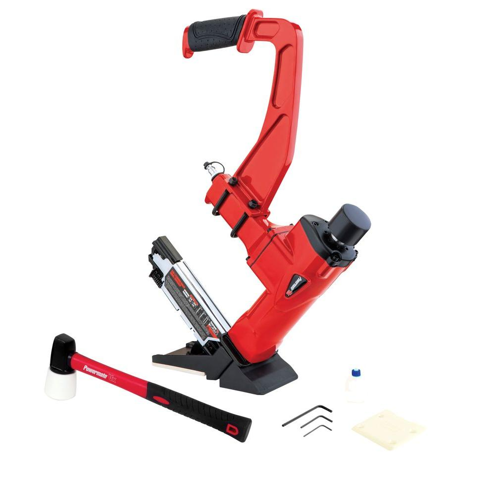 Powermate 3 in 1 hardwood flooring nailer hwfn3n1p the for Wood floor nails or staples