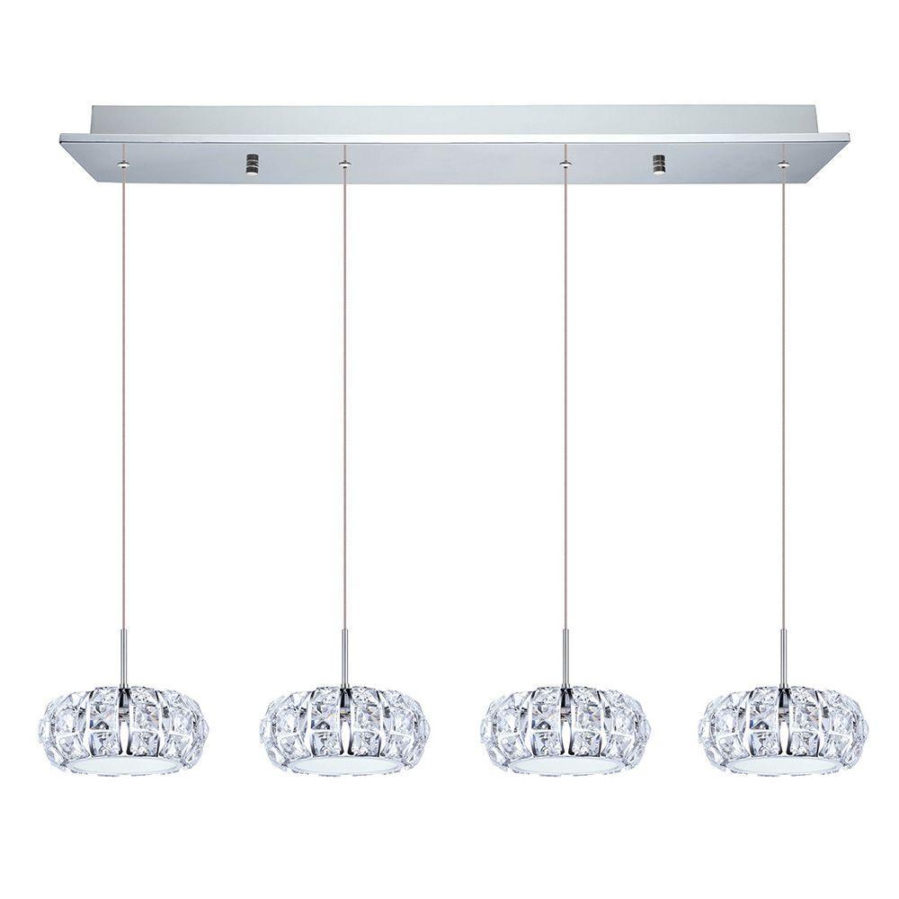 Corliano 4-Light Chrome Hanging Light