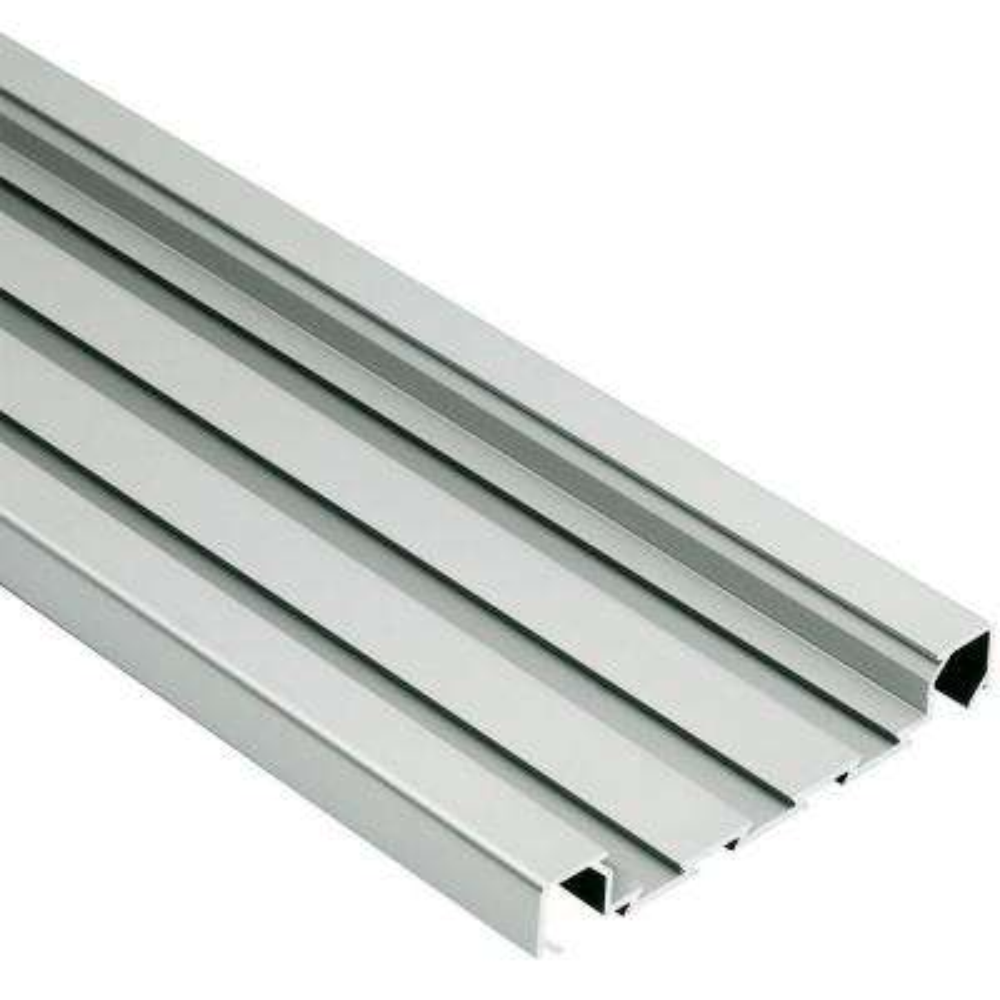 Quadec-FS Satin Anodized Aluminum 5/16 in. x 8 ft. 2-1/2 in. Metal Square Edge Tile Edging Trim