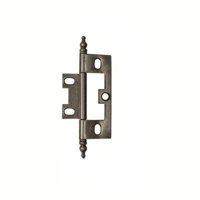 2-1/2 in. x 1-1/2 in. Silver Medallion Furniture Barrel Hinge