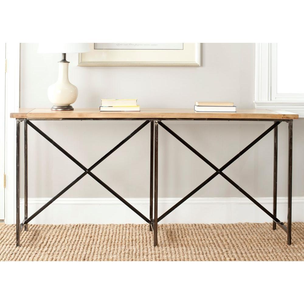 Home Sense Foyer : Safavieh simon natural console table amh a the home depot