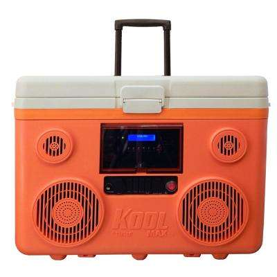 KoolMax 40 Qt. Orange Wheeled Cooler, Bluetooth PA System and Power Station
