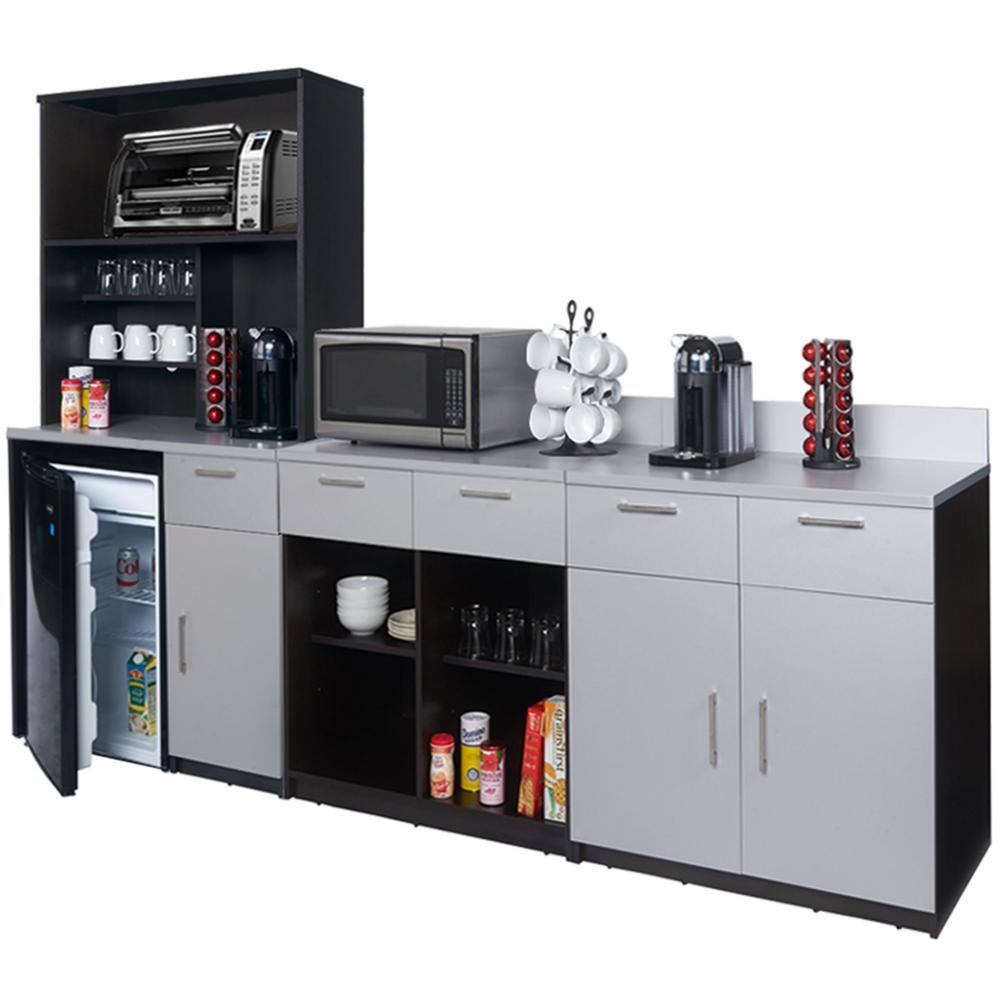 Espresso Brown Sideboard Lunch Break Room