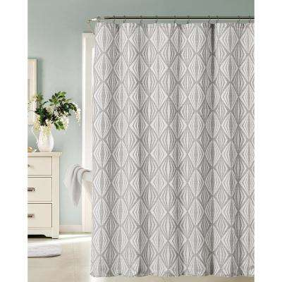 Romance 72 in. Silver Shower Curtain