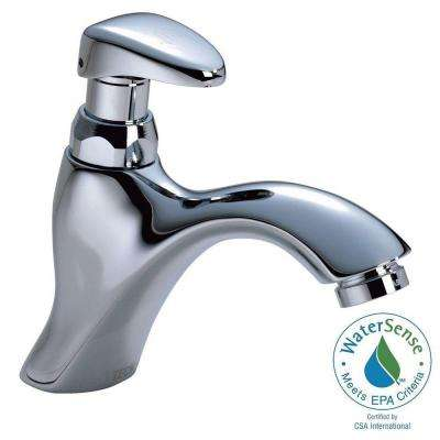 Commercial Single Hole Single-Handle Bathroom Faucet in Chrome