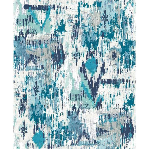 York Wallcoverings 28.18 sq. ft. Blue Aztec Peel and Stick Wallpaper