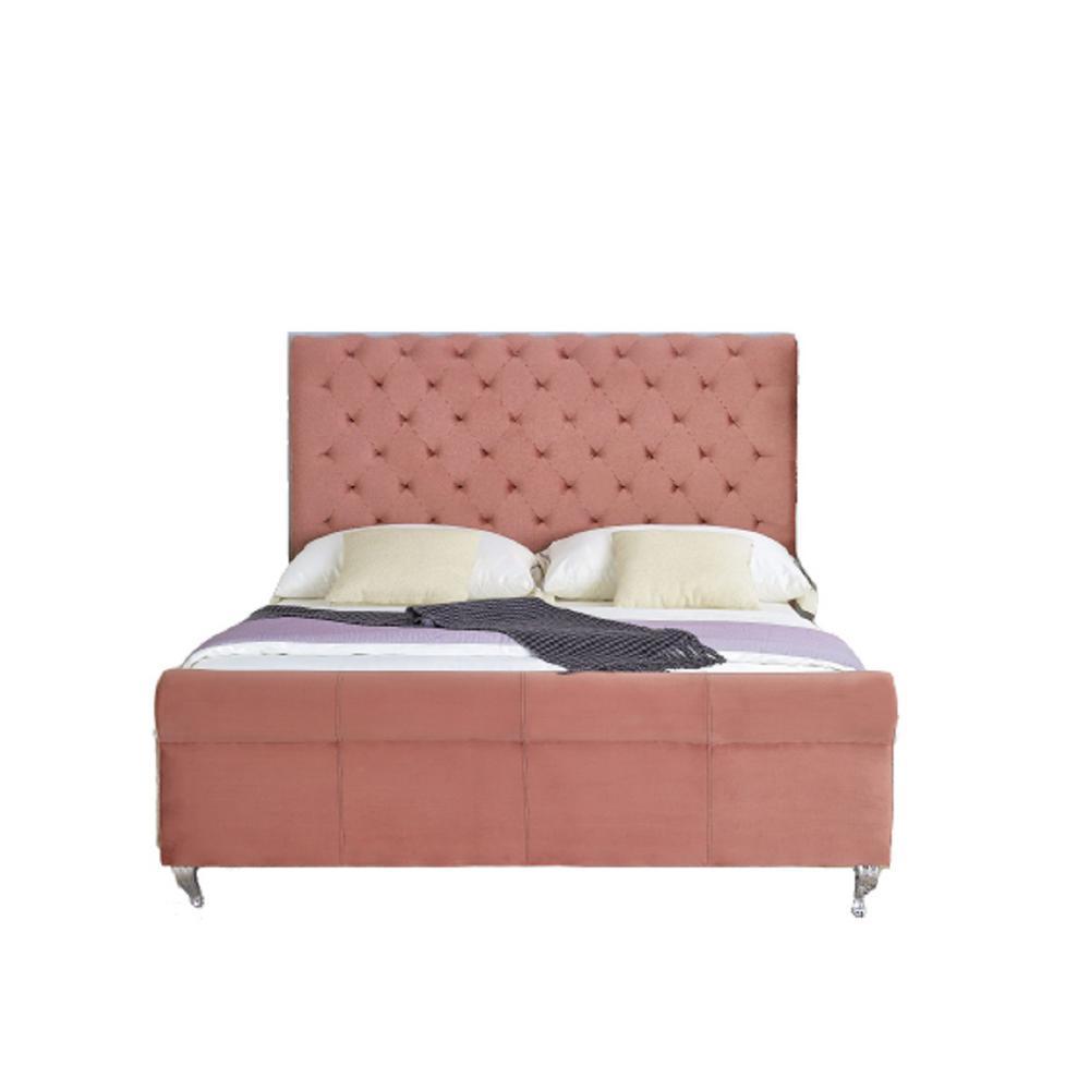 Lollory Rose Queen Upholstered Platform Bed