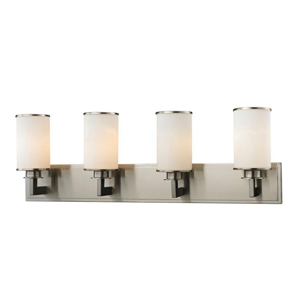 Lacy 4-Light Brushed Nickel Bath Vanity Light