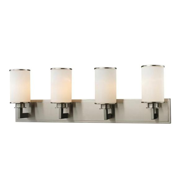 Lacy 4-Light Brushed Nickel Bath Vanity Light