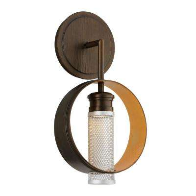 Insight 25-Watt Modern Bronze Integrated LED Sconce