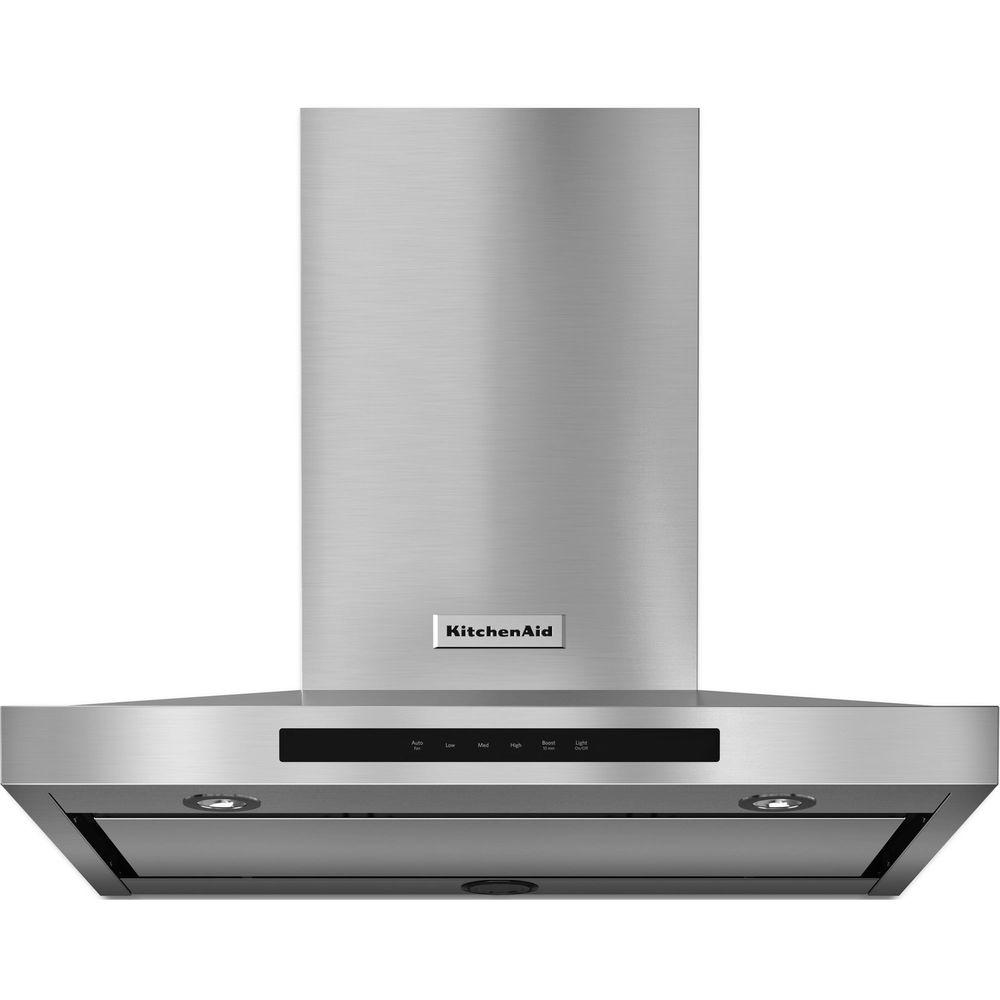 Miraculous Kitchenaid 30 In Wall Mount Convertible Canopy Range Hood In Stainless Steel Download Free Architecture Designs Lectubocepmadebymaigaardcom