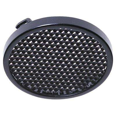 5 in. Ambiance Polycarbonate Twist-On Black Honey Comb Disk Light Trim