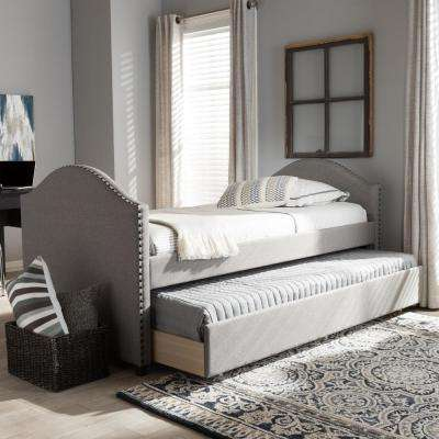 alessia gray fabric upholstered twin size daybed
