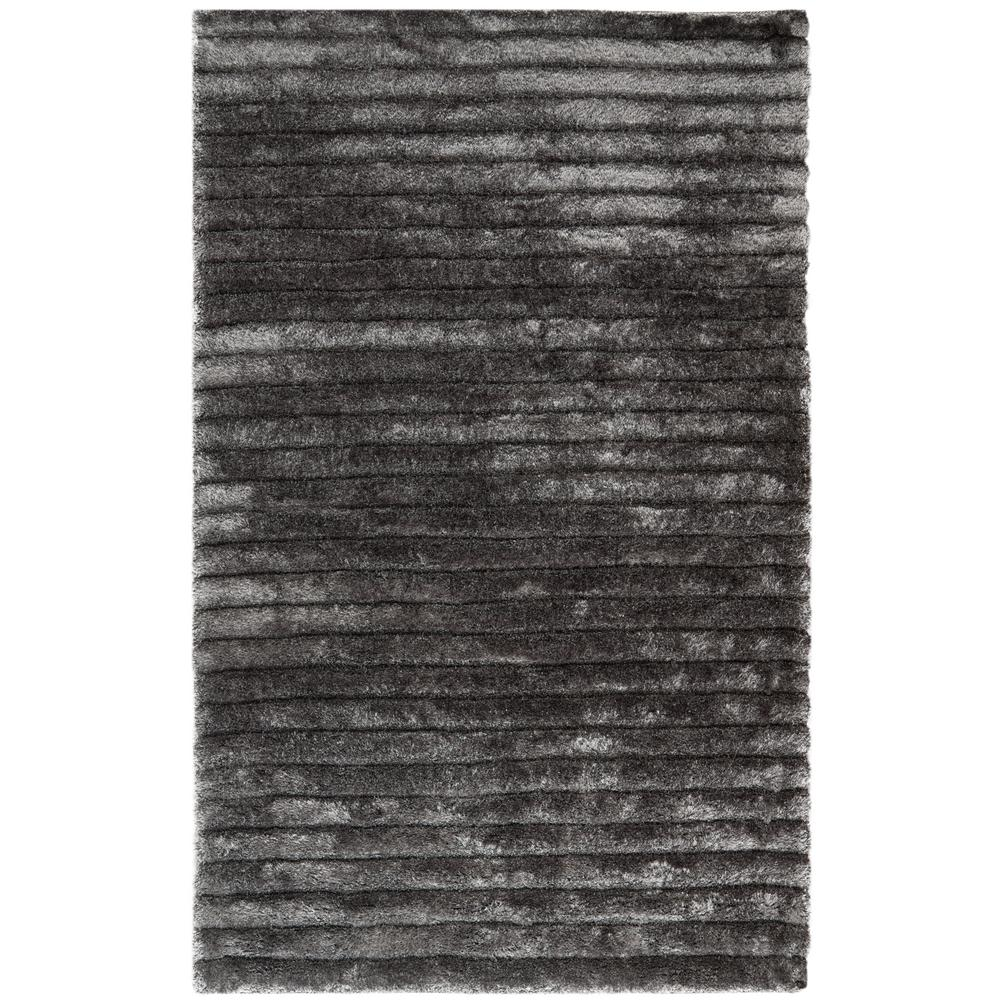 3D Shag Silver 9 ft. x 12 ft. Area Rug