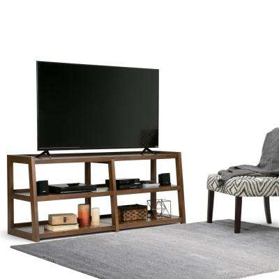 Sawhorse Medium Saddle Brown Wide TV Media Stand