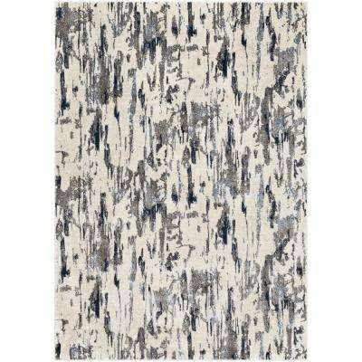 Aldona Navy 3 ft. 11 in. x 5 ft. 7 in. Abstract Area Rug
