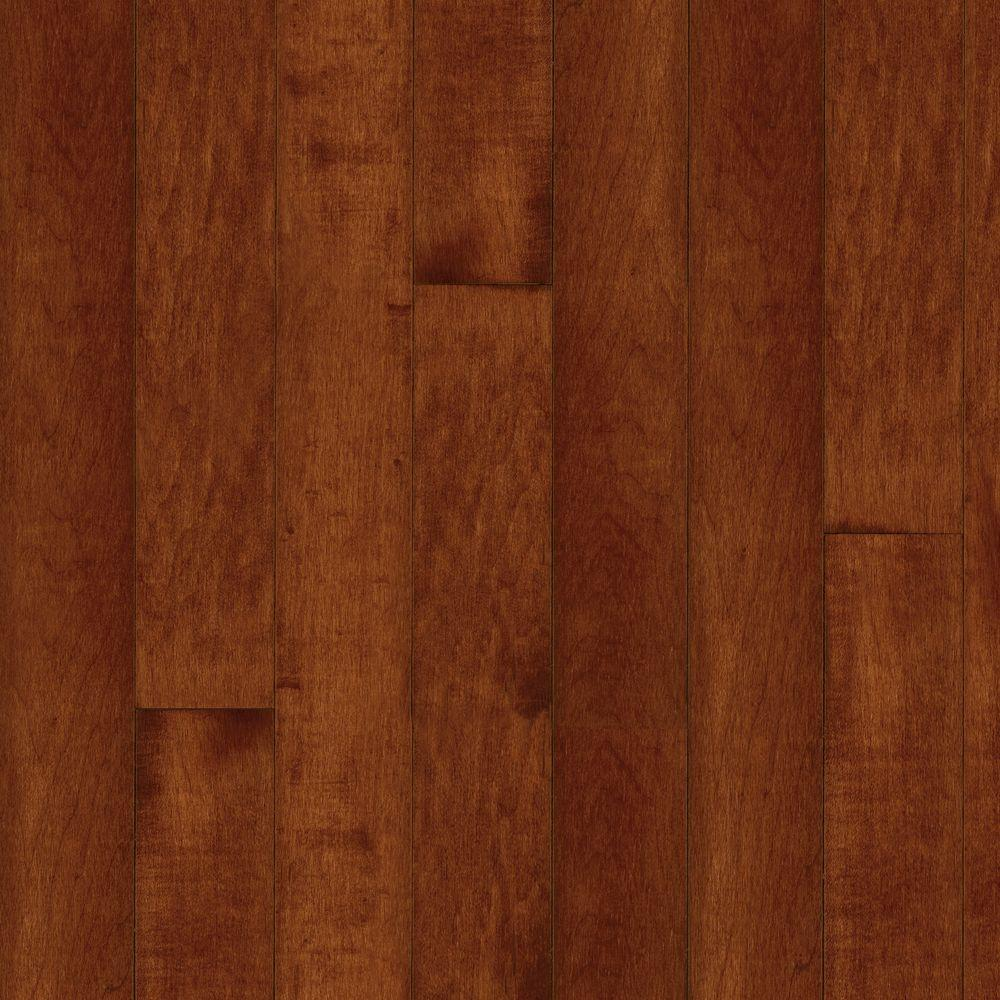 Bruce maple cherry 3 4 in thick x 2 1 4 in wide x random for Solid hardwood flooring