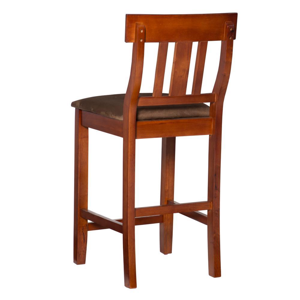 Peachy Linon Home Decor Torino 24 In Dark Cherry Cushioned Bar Andrewgaddart Wooden Chair Designs For Living Room Andrewgaddartcom